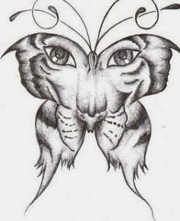Desenho Tatuagem Borboleta
