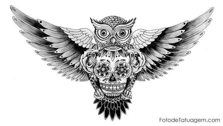 Desenhos Para Tatuagem De Coruja Tattoo 7 40 Aves